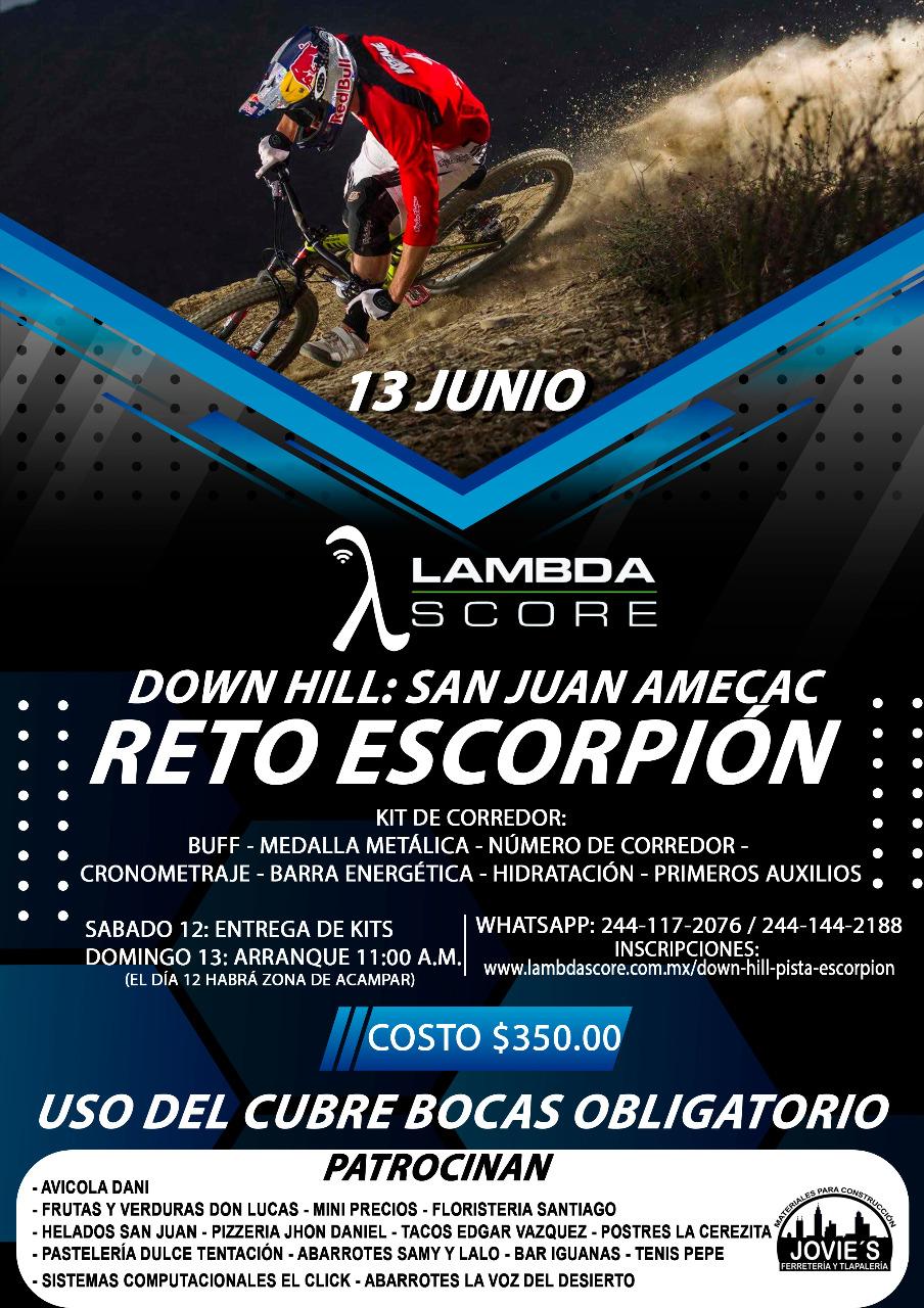 down hill reto escorpion